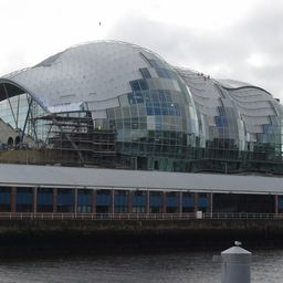 Gateshead Music Center - Glasmontage